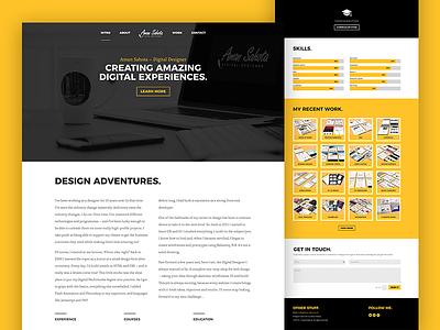 My portfolio site typography branding user experience web design colour theory ui design ux design