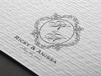 Wedding logo mockup typography monogram illustrative design branding logo design wedding logo