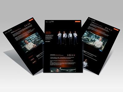 UX and UI design for a microsite branding user experience graphic design ux design web design ui design