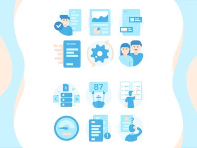 Icon illustrations for Truescore