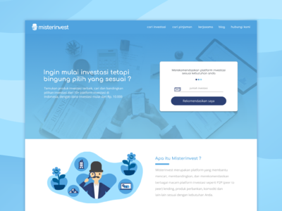 Misterinvest landing page