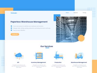 Warehouse Management Landing Page