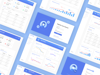 Dashboard Concept for Demand planning and AI forecast