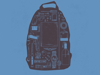 The Last of Us: Part II - Backpack backpack the last of us design video game poster illustration