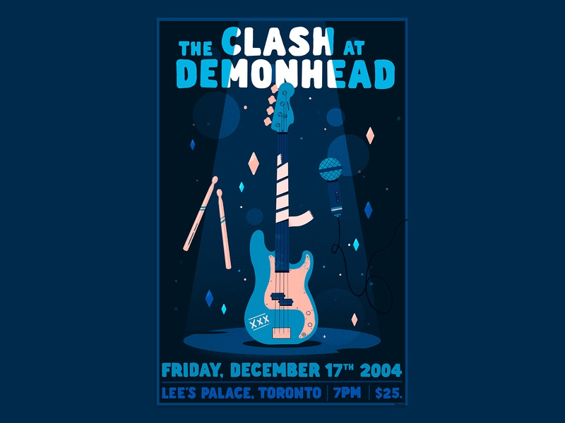 The Clash at Demonhead procreate band scott pilgrim poster illustration gigposter