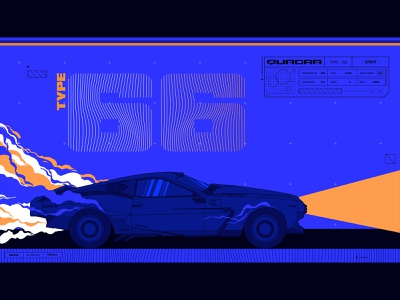 Cyberpunk 2077 fan-art video game procreate sports car car illustrator fan-art 2077 cyberpunk