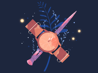 The Last of Us: Part II drawing fireflies watch knife plant poster procreate video game illustration