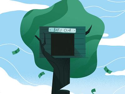 Creative Review pay-gap money tree design illustration editorial