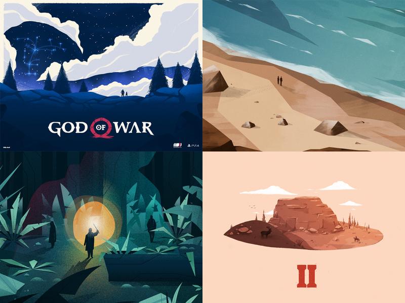 2018 2018 xbox video game design landscape poster illustration