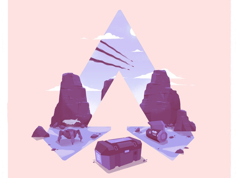 Apex Legend print fan-art video game landscape illustration