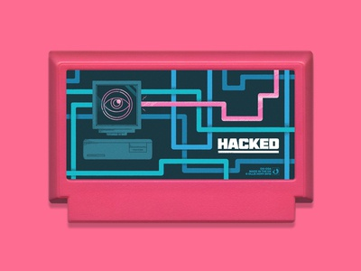 My Famicase Exhibition 2019 pink illustrator cartridge cables computer hacked hacking famicase