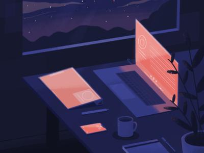 At Desk Till Dawn playlist late night ipad music working spotify procreate laptop desk playlist