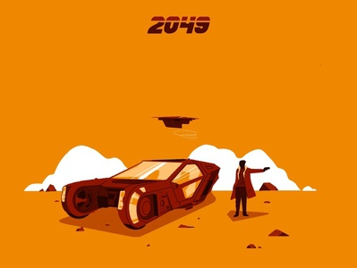 Blade Runner 2049 design fanart procreate illustration film blade runner blade runner 2049