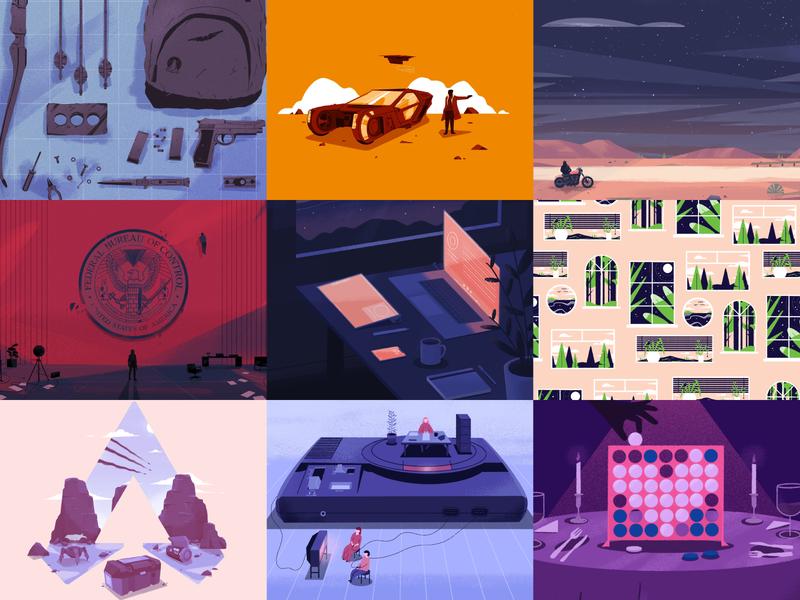 Best of 2019 art of 2019 2019 best of 2019 video game landscape illustration