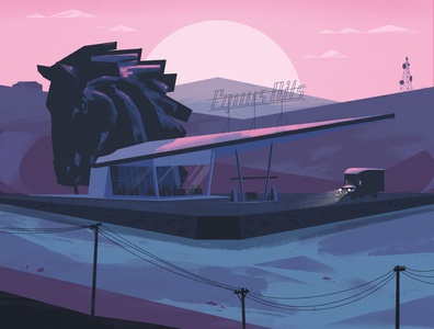 Kentucky Route Zero illustration poster video game fan art