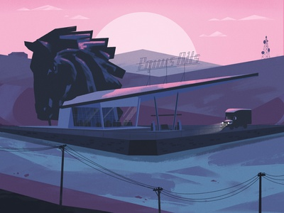 Kentucky Route Zero illustration poster video game fan art