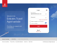 Emirates Agent Login page