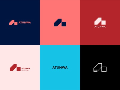 Atunwa Digital ad agency marketing tech logo a logomark monogram logotype brand branding minimal logomark identity logo