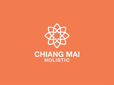 Chiang Mai Holistic yoga logotype grid logomark identity monogram logo branding brand