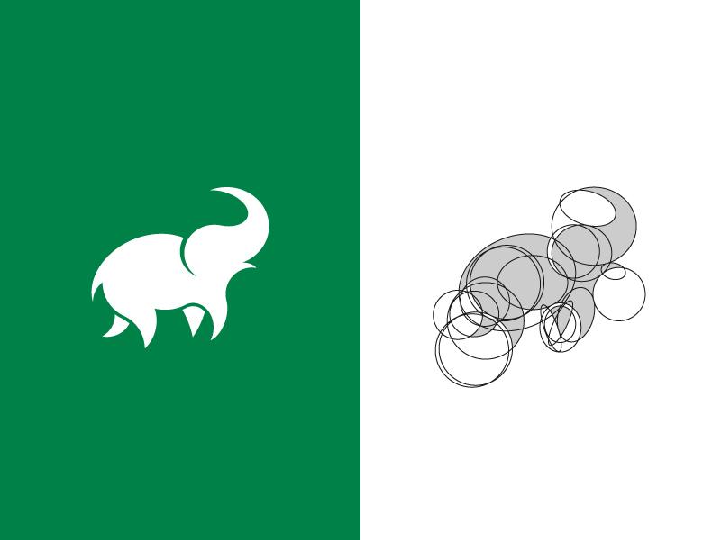 Elephant elephant logo elephant illustration animal icon grid branding brand minimal logomark identity logo