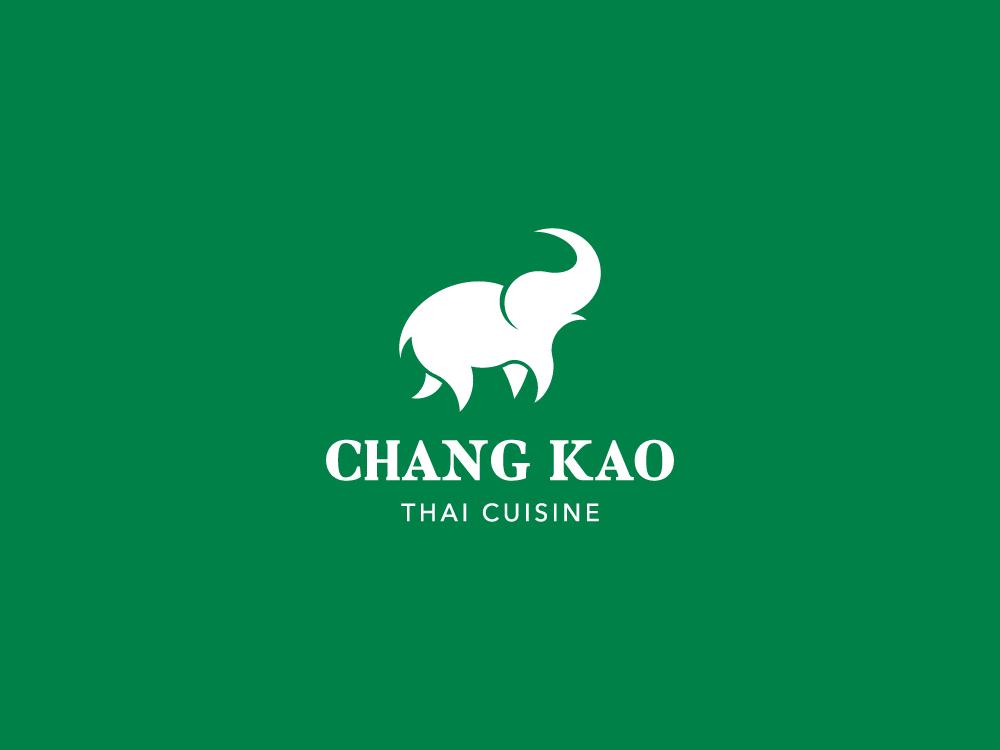 Chang Kao Thai Cuisine restaraunt icon design logotype branding brand minimal logomark identity logo