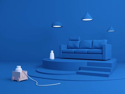 IKEA in Blue ikea animation blue 3d