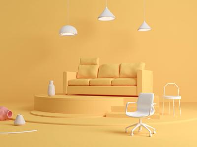 IKEA in yellow ikea yellow branding motion graphics 3d animation
