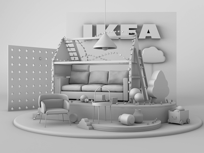 Happy Holiday modeling design 3d ikea