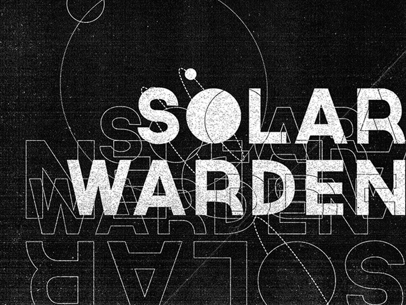 Solar Warden Type Poster webdeisgn layoutdesign print design type sci-fi vector typography logo art direction branding poster design