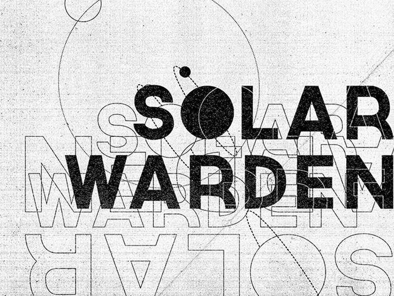 Solar Warden Type Poster White Variant layoutdesign label book visual development illustration sci fi logotype boston typography logo print art direction branding poster advertising design