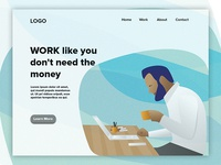 Work Landing Page Illustration