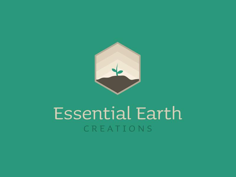 Logo for essential oils company growth earth emblem logo plant oils essential