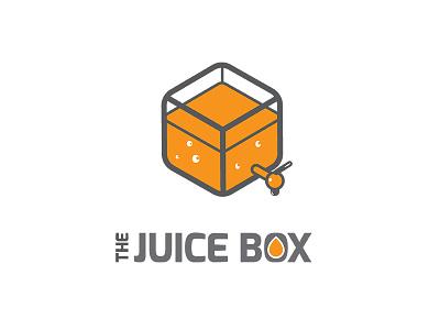 The Juice Box flat minimal branding vector sign mark symbol restaurant juice logo orange tap box snack softdrink juice logo juice box illustrator juice bar logo design