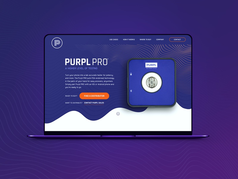 Purpl Pro | Home redesign