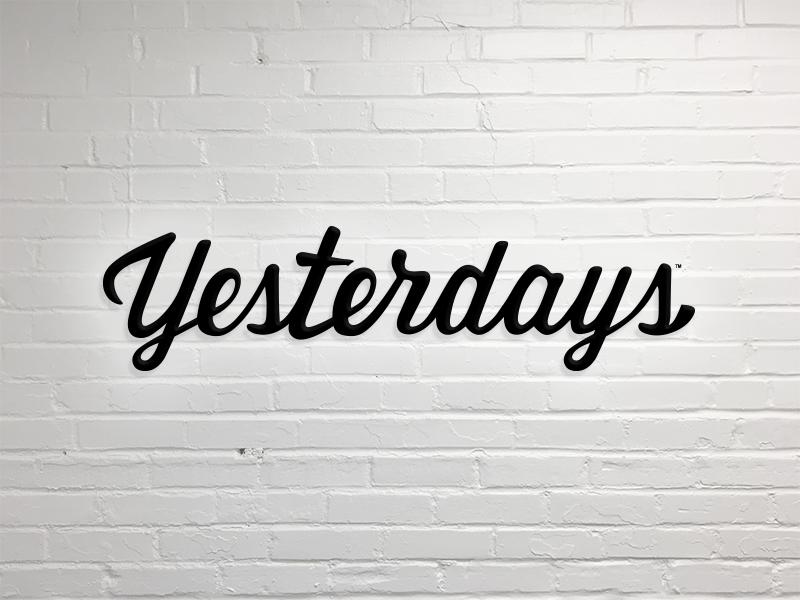 Yesterdays: Logo rebound branding font script handwriting restaurant logo