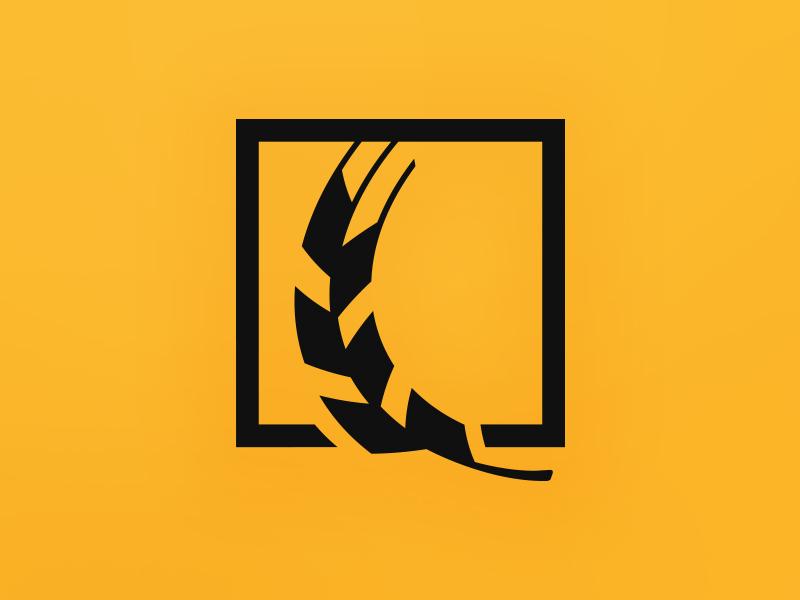 HarvestNRG logo clean energy wheat solar energy logo