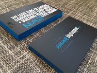 Limited print business cards: 1 of 500