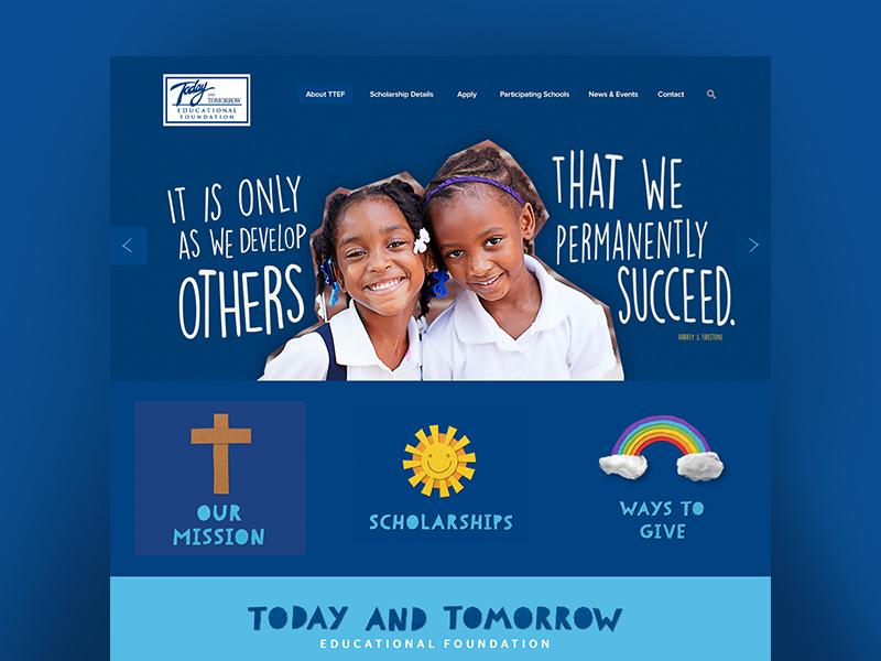 Today And Tomorrow web design school design web non-profit
