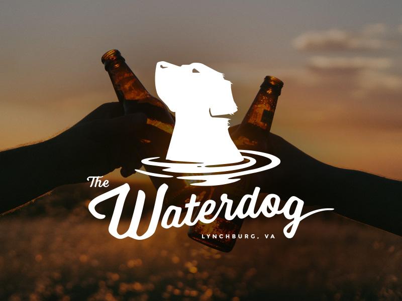 The Waterdog dog water craft beer logo taphouse