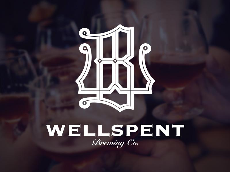Wellspent Brewing Co. Logo  logo art deco saison craft beer