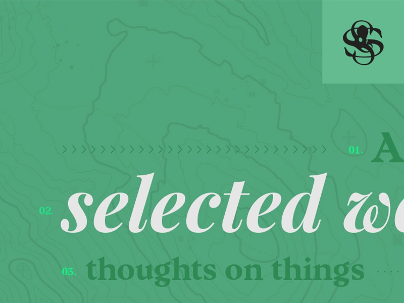 SaintSoto.com      Navigation user interface branding navigation ux ui web design