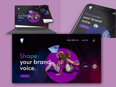 Digital Agency Weanbsite inspiration creative purple website uiux digital digitalagency