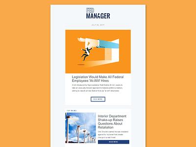FEDmanager Newsletter government infos news dreamweaver html email newsletter