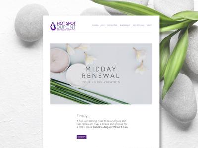 Midday Renewal Yoga Class branding website web design yoga sports ui ux dailyui fitness health