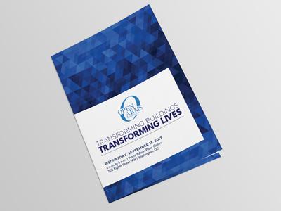 Event Program events program bi-fold print minimal clean advertising a5