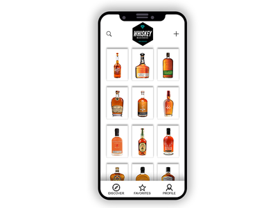Whiskey Business App mockupe mobile ios ui daily ui whisky app iphone x os 11