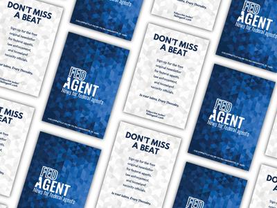 FEDagent Flyer branding typography news newsletter flyer collateral