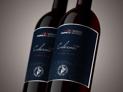 Capital One Custom Wine Label small business branding luxury wine mockup wine design wine label wine