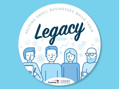 Legacy sticker Pt. 1 sticker design badge marketing campaign sticker