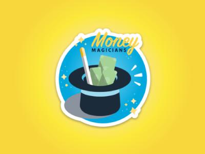 Money Magicians Sticker magician magic wand magic money die cut sticker mule sticker